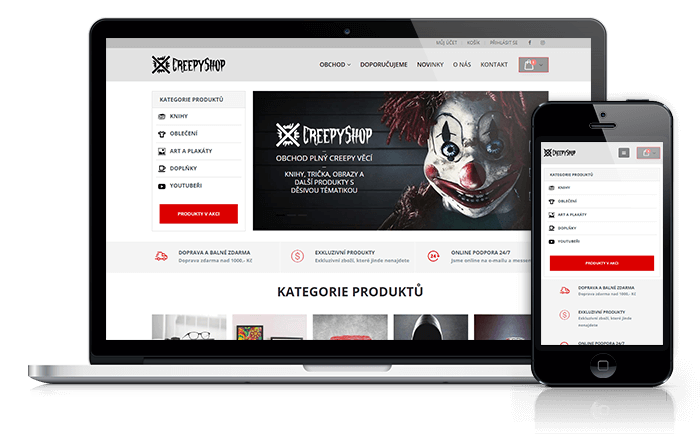 WordPress web reference Mirek Rohlíček CreepyShop.cz